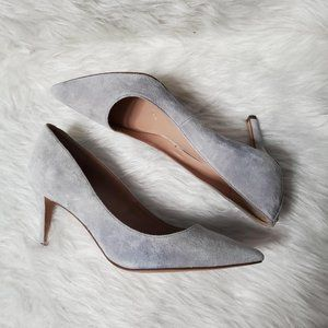BCBGeneration Gray Suede Pointed Toe Heels, 9B